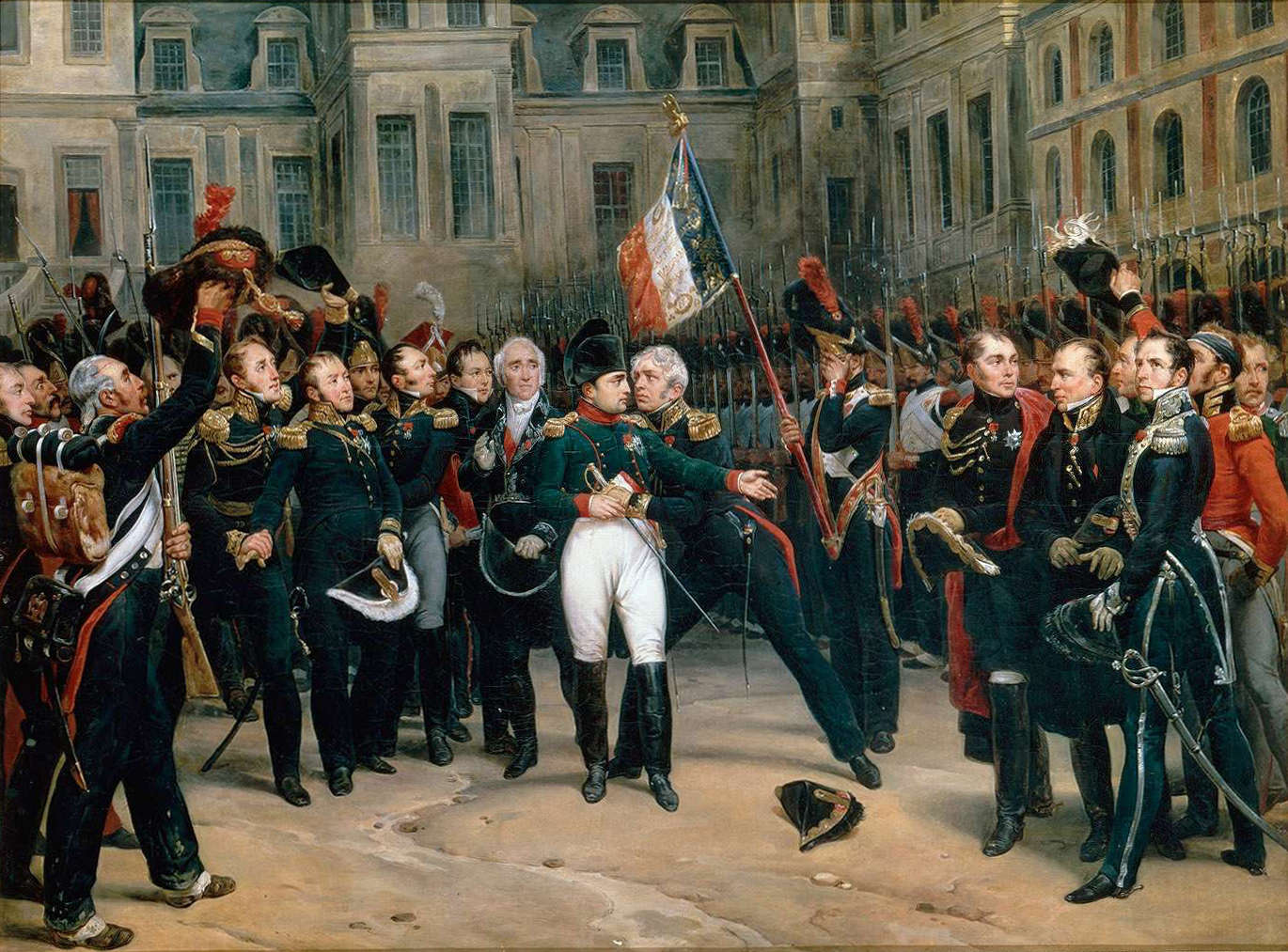 Napoleon's_farewell_to_the_Guard_at_Fontainbleau-April_20th,_1814