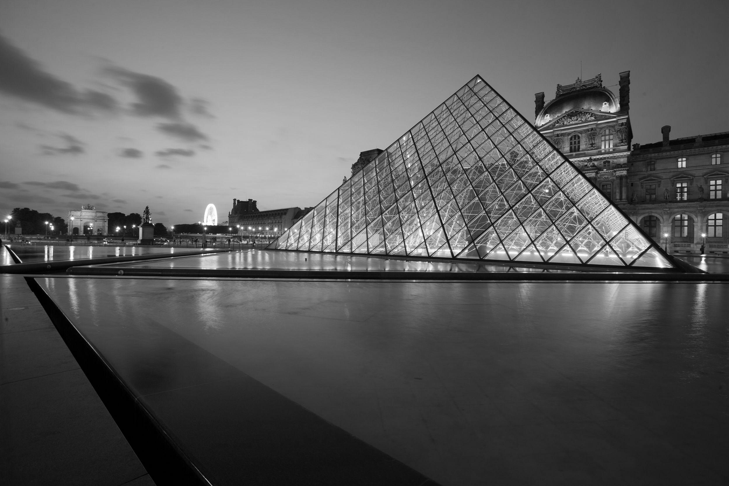 france, région ile de france, paris 1e arrondissement, musee du louvre, place de la pyramide, ieoh ming pei,